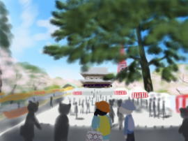 増上寺 桜と屋台(1).jpg