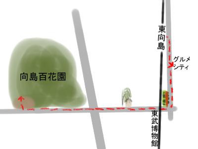 東向島駅から百花園.jpg