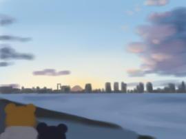 豊洲市場から富士(1).jpg