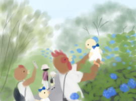 アジサイとパチリ(1).jpg