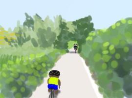 荒川サイクリングロード少ない木陰(1).jpg